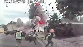 Police Dashcam Captures Massive Gas Explosion in Wisconsin