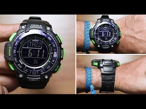7223ef6fccb210 Casio outgear SGW-1000-2B *TRIPLE SENSOR - YouTube