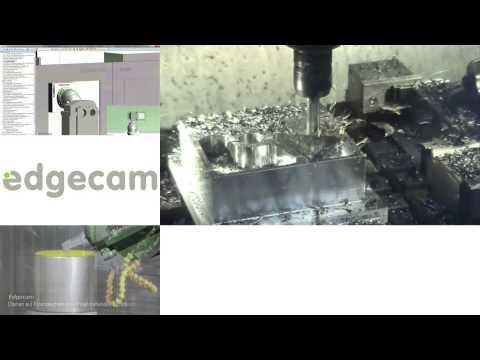 Vero Software GmbH - Edgecam live Bearbeitungs- Kollage