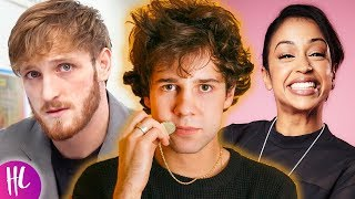 David Dobrik Shades Logan Paul & Talks Liza Koshy Break Up | Hollywoodlife Video