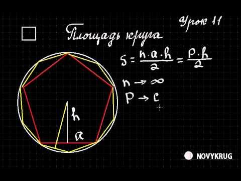 Математика  Урок 11  Площадь круга