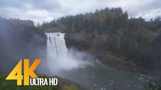 Snoqualmie Falls in Autumn. Episode 1 - 4K UHD Nature Relax Video (7 HOURS)