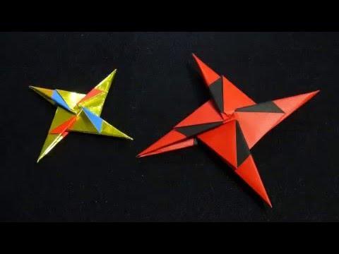 折り紙の:折り紙の手裏剣の作り方-youtube.com