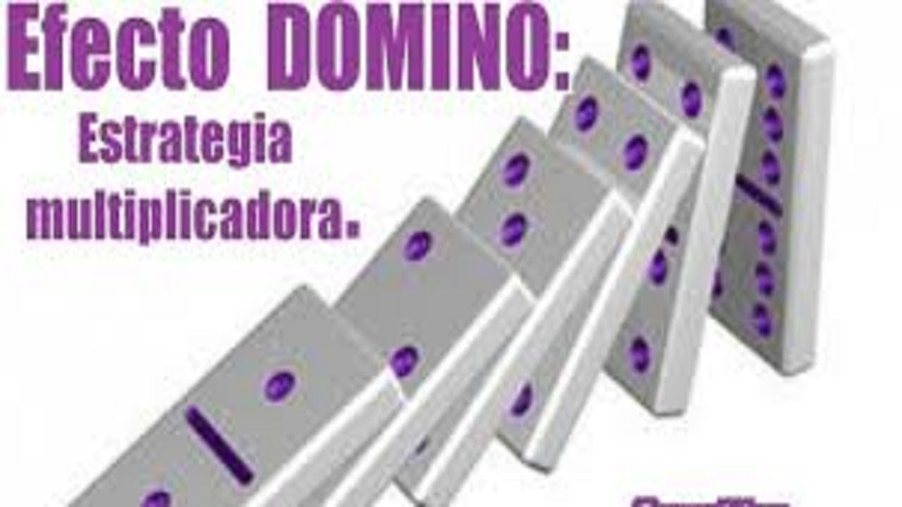 EFECTO DOMINO UNA ESTRATEGIA MULTIPLICADORA PARA MARKETING
