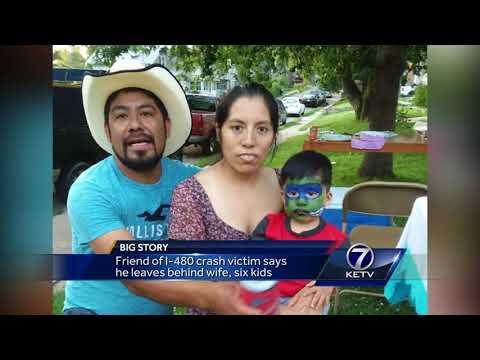 Friend of I-480 crash victim says he leaves behind wife, six kids