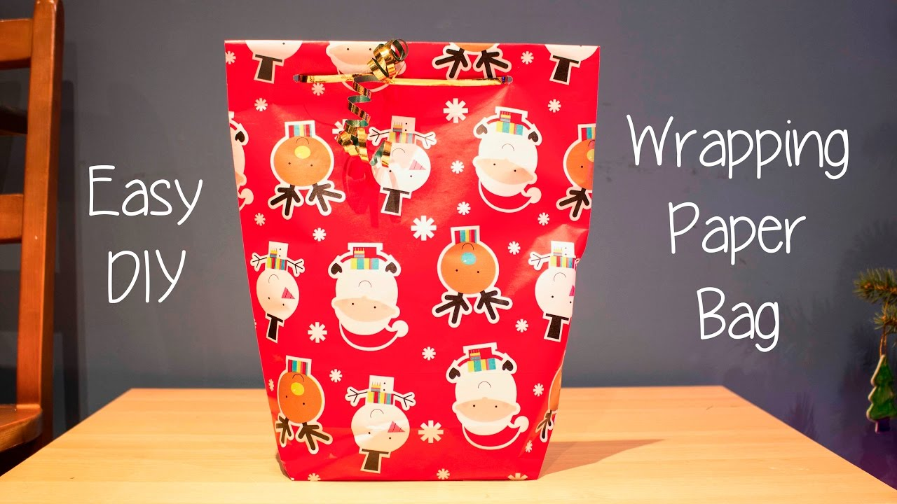 how to make a gift bag out of wrapping paper youtube
