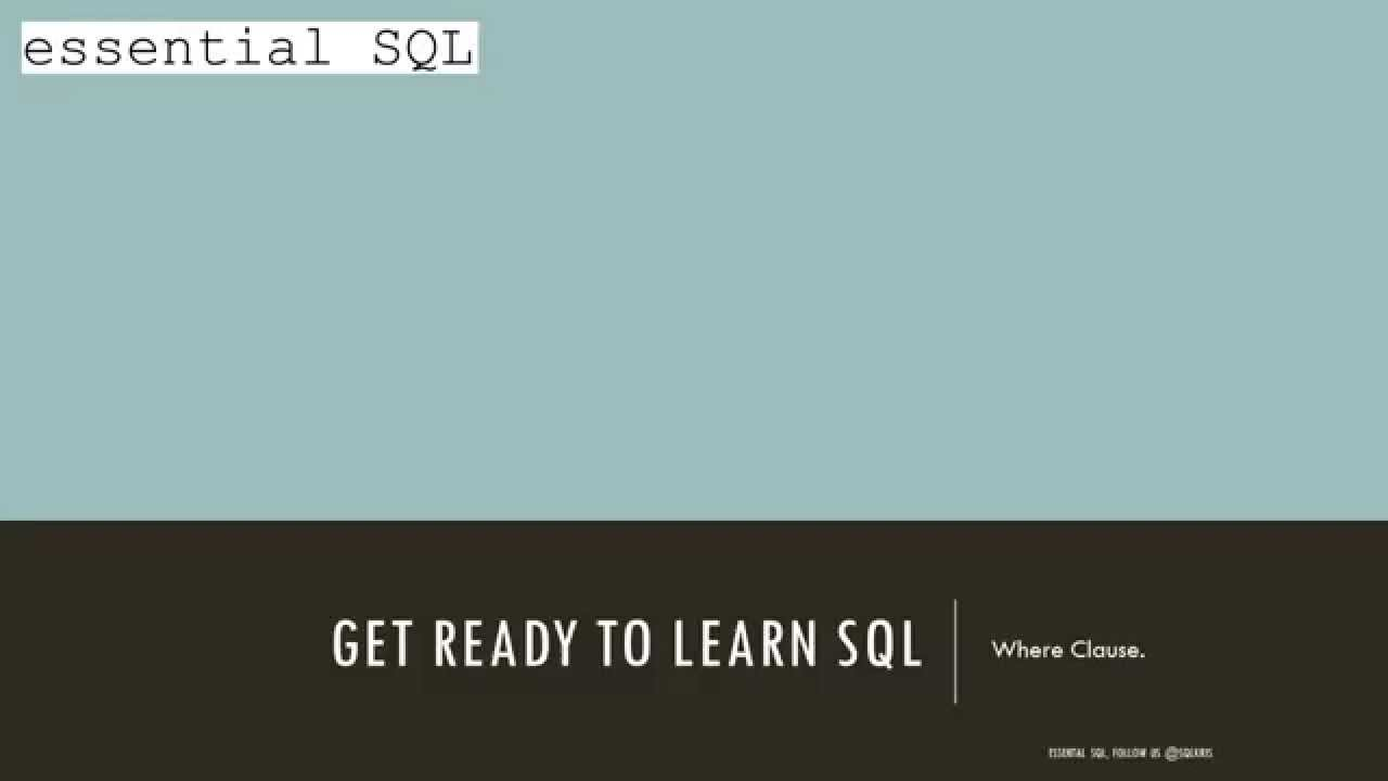 Query Results Using Boolean Logic - Essential SQL