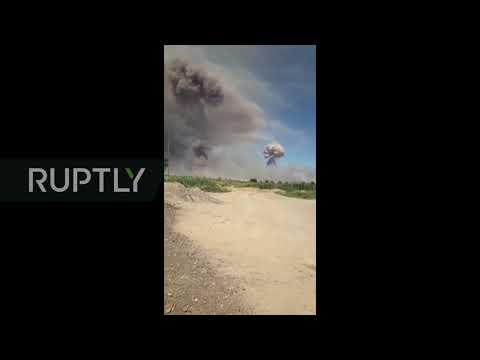 Kazakhstan: At least 16 injured after massive explosion at ammunition depot