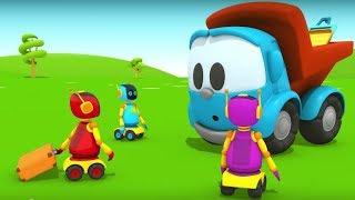 Leo der Lastwagen baut für die Roboter ein Haus - Zeichentrickfilm für Kinder