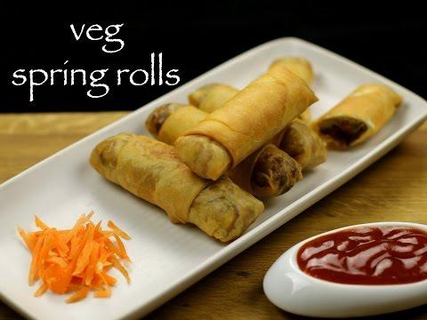 veg spring rolls recipe | vegetarian spring rolls recipe | spring roll recipe