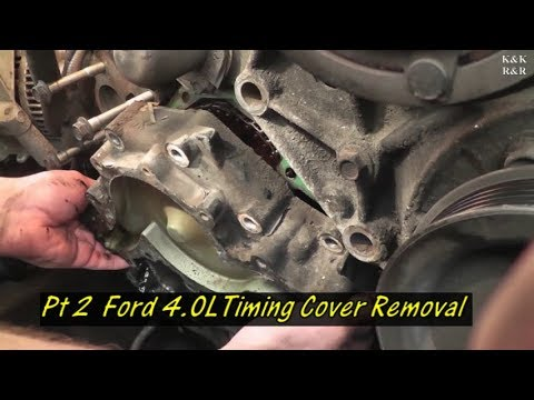 1996 Ford Explorer 4 0L Timing Covers Gasket Pt 2 Timing Cover Removal