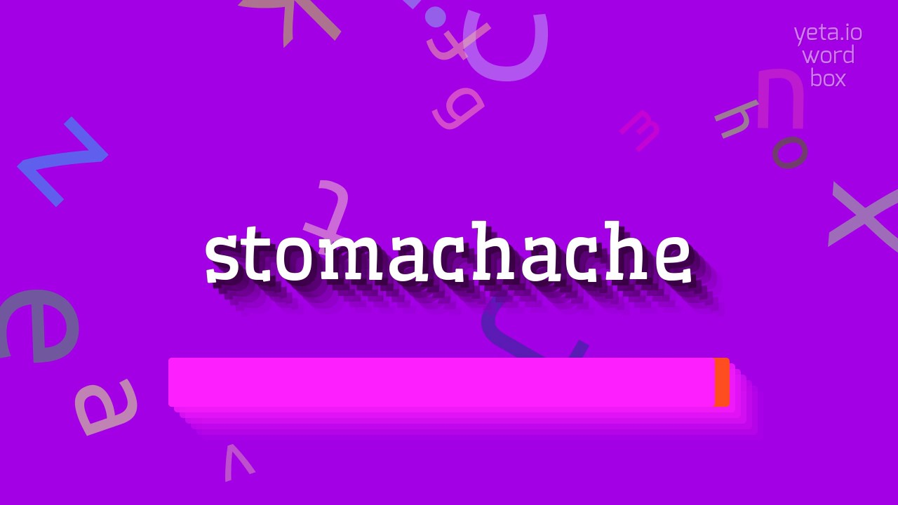 """How to say """"stomachache""""! (High Quality Voices)"""