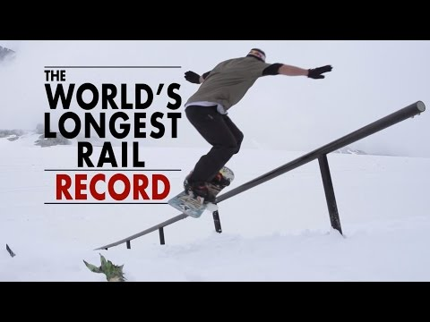 Snowboarding The World's Longest Rail - 84m World Record!