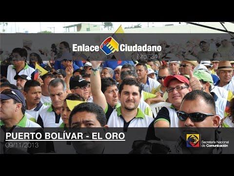 Enlace Ciudadano Nro. 347  desde Puerto Bolívar, El Oro