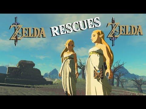 Zelda RESCUES Zelda IN Zelda Breath Of The Wild