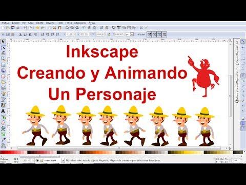 Video Tutorial de Inkscape en Español 9: Dibujar y animar un personaje