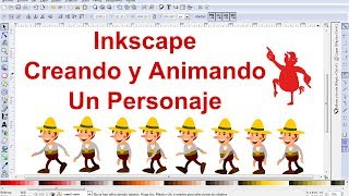Video Tutorial de Inkscape en Español 9: Dibujar y animar un personaje