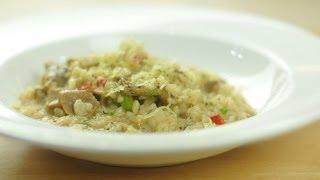 註冊營養師陳國賓(leslie)介紹用有機珍珠米煮牛乾菌意大利飯