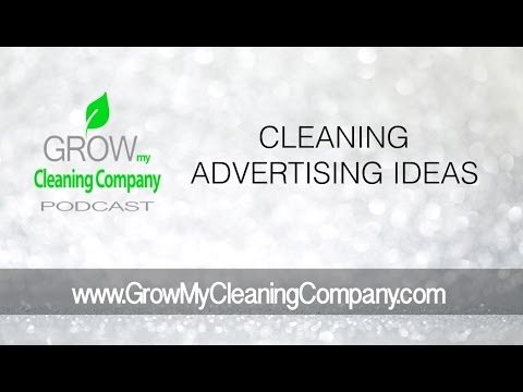 cleaning advertising ideas