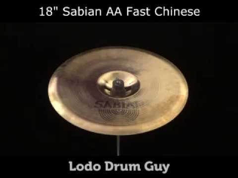 """SOLD OUT 18"""" Sabian AA Fast Chinese FX Cymbal"""