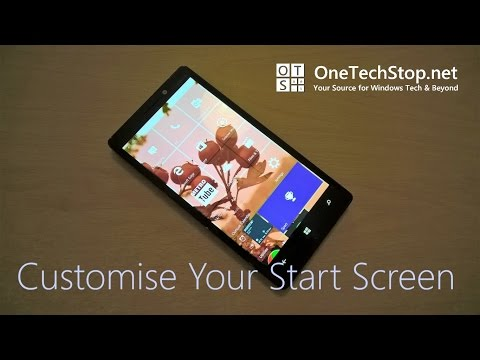 How To Customise Windows 10 Mobile Start Screen