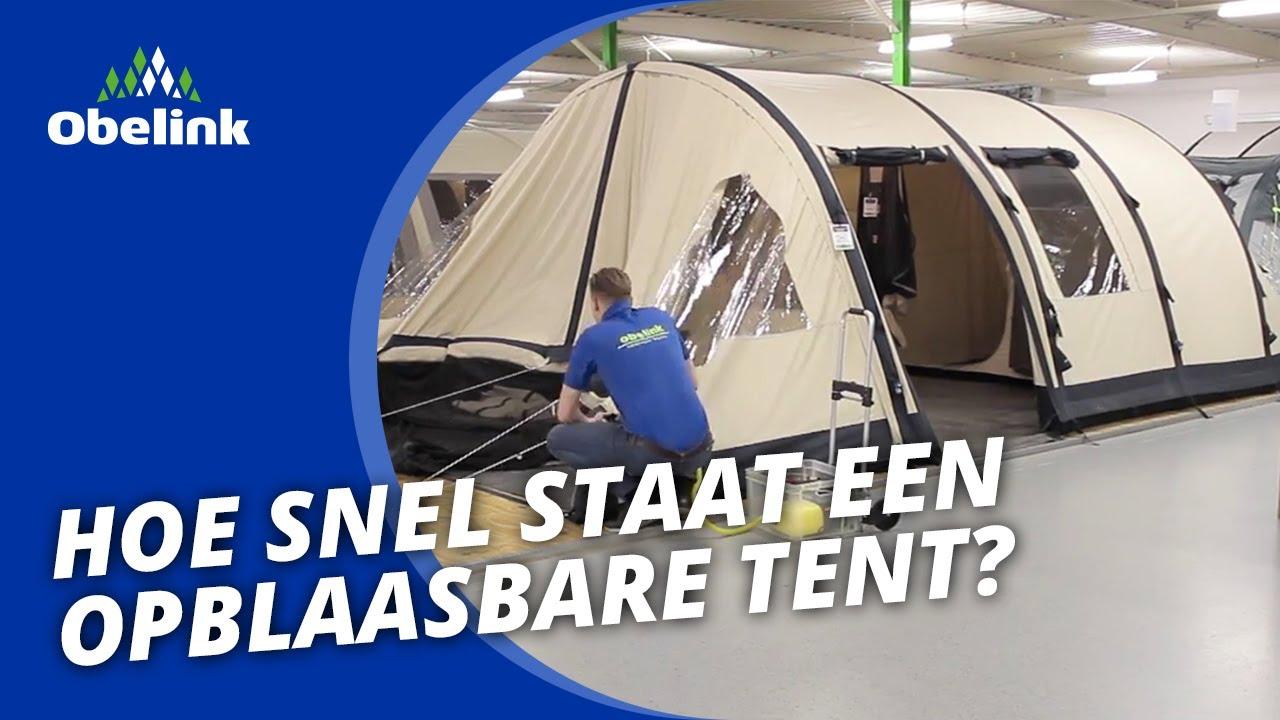 obelink miami 6 easy air demonstratie opblaasbare tent hoe snel staat een opblaasbare tent. Black Bedroom Furniture Sets. Home Design Ideas