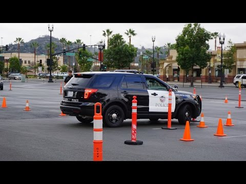 Police Driving Test Video & Cops Get Angry At Me ~ Training Slalom ~ LOL