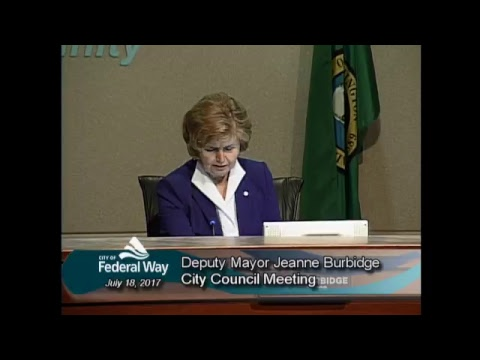 7/18/2017- Federal Way City Council - Regular Meeting