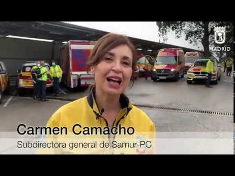 El apoyo del Samur sale para Soria y Segovia