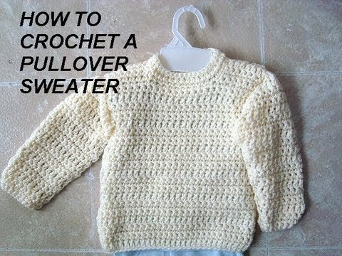 Unisex Pullover Sweater How To Crochet Clothing Adults