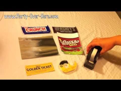 Wonka Bar And Willy Wonka Golden Ticket Wrapping Instructions Youtube