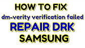 Dm verity verification failed Samsung [Solved] - YouTube