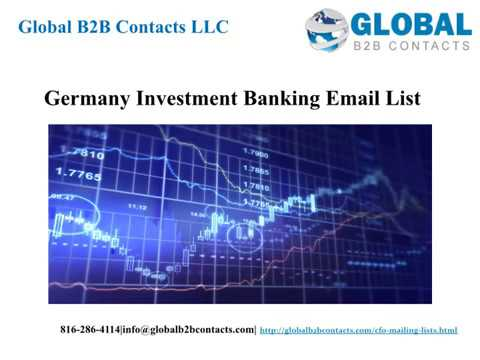Germany Investment Banking Email list
