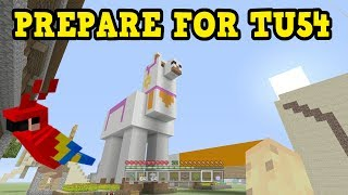 Minecraft Xbox One / PS4 How To PREPARE For TU54