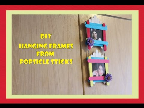 Hanging Frame With Popsicle Sticks Wall Hangings Youtube