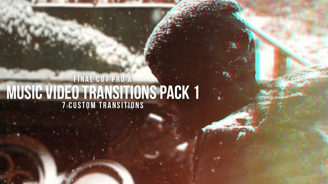Final Cut Pro X Transitions For Music Videos (Pack 1)