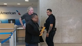 Homeland Security recording in public at Los Angeles International Airport