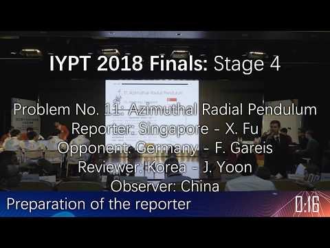 IYPT 2018 Finals - Stage Four