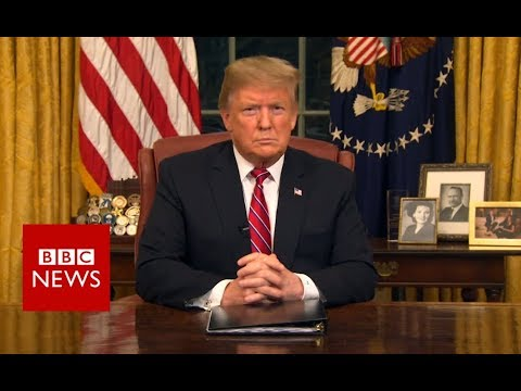 Trump wall: President addresses nation on border 'crisis' - BBC News