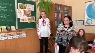 Урок по творчості Ніни Гнатюк у 15-й школі Вінниці - 6-А клас 25.02.19 ч8