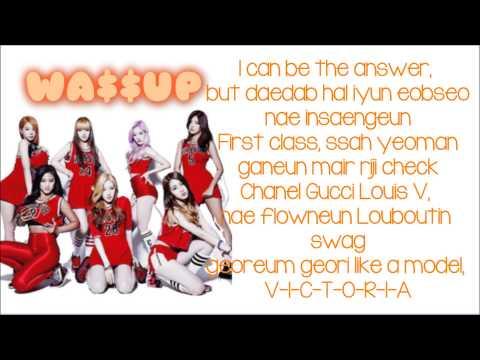 WA$$up- Wassup Lyrics (Kpop)