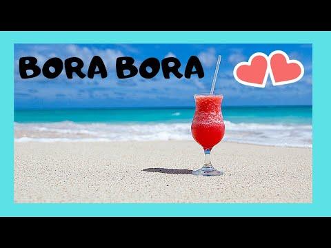 BORA BORA, the spectacular MATIRA BEACH and the turquoise color of the sea