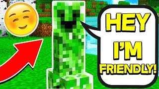 FINDING THE ONLY FRIENDLY CREEPER IN MINECRAFT!