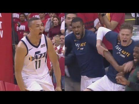 Jazz Steal Game 2! Donovan Mitchell, Exum Huge Slams! 2018 NBA Playoffs