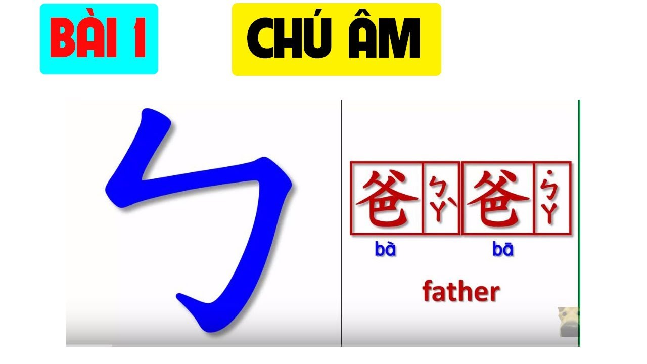 Bài 1. Ký hiệu chú âm ZHUYIN | TIẾNG TRUNG ĐÀI LOAN