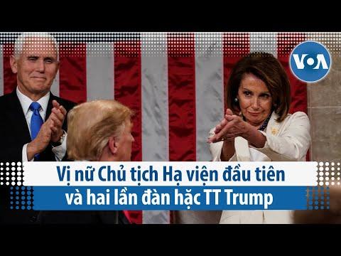 Vị nữ Chủ tịch Hạ viện đầu tiên và hai lần đàn hặc TT Trump (VOA)