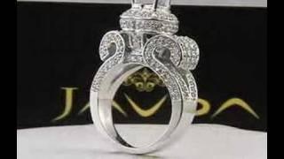 Round Diamond Semi Mount Engagement Ring 14k White Gold (2.6