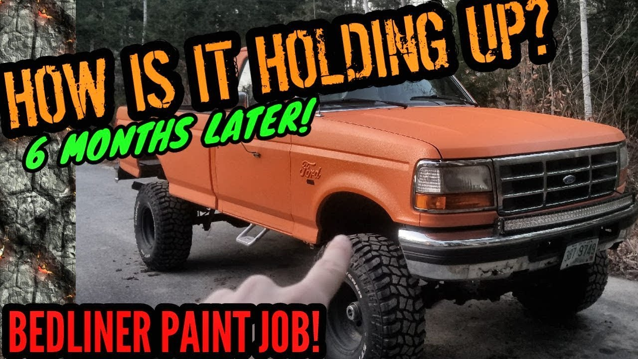 Bed Liner Paint Job 6 Month Update 9 Lifted Obs Ford Youtube