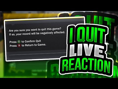 I QUIT AND GOT MY FIRST LOSS LIVE REACTION NBA 2K18