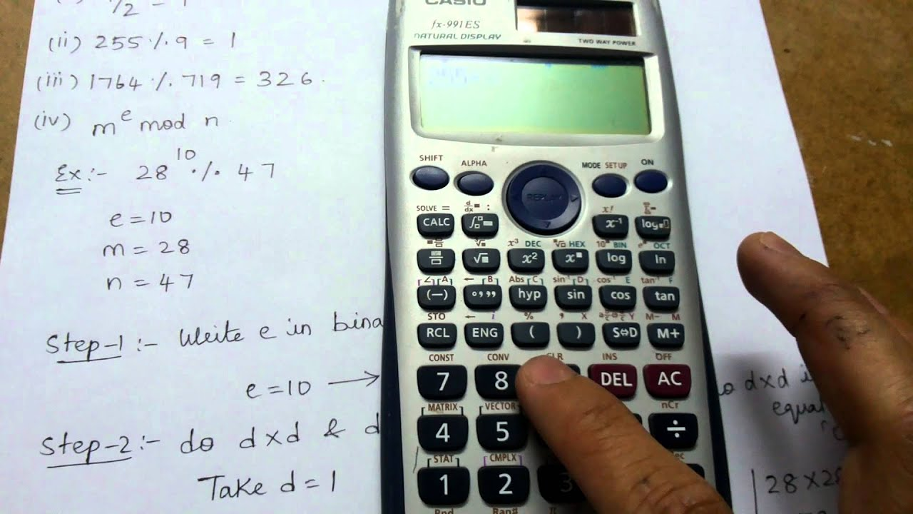 How to calculate a Mod b in Casio fx-991ES calculator!!